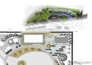 Projekt geometrycznego ogrodu