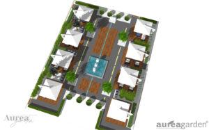 Projekt ogrodu na dachu hotelu