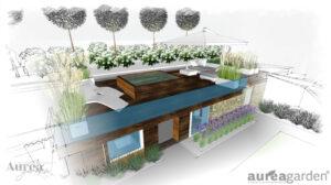 Projekt ogrodu pod Paryżem