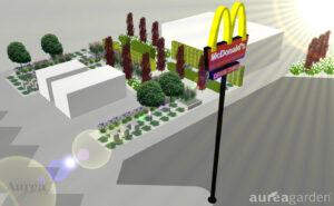 Projekt nasadzeń przy McDonalds